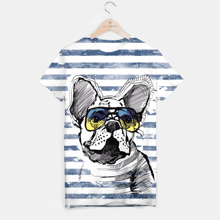 French Bulldog with stripes