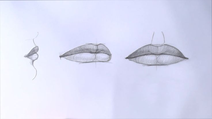 Уроки рисования. Как нарисовать губы карандашом