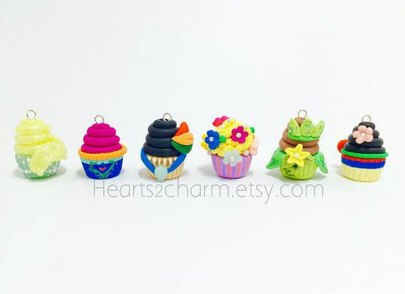 Disney Princess Characters Inspired Cupcake Charms by Hearts2Charm
