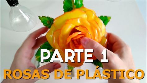 RECYCLED HAND CRAFTS. How to make roses with plastic bottles. PART1