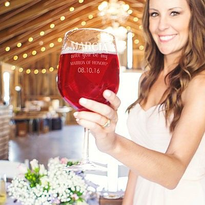 Giant maid of honour wine glass