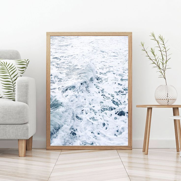 Excited to share the latest addition to my #etsy shop: sea foam print, ocean wall art, sea waves photography, sea waves print, ocean photography,minimal, nautical decor, beach poster, modern art