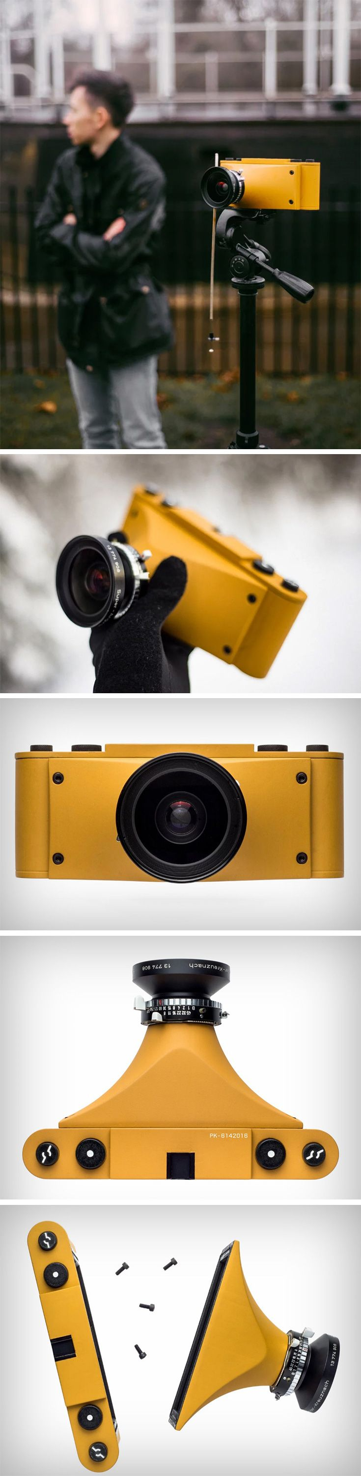 Design student Paul Kohlhaussen built the Cycloptic Mustard Monster, a camera that combined bits from other cameras, mostly obsolete and discontinued models. The Cycloptic Mustard Monster is a beautiful example of necessity being the mother of invention. Paul took the best features from a selection of high-end cameras and combined them into one fully functioning camera at literally a fraction of the cost.