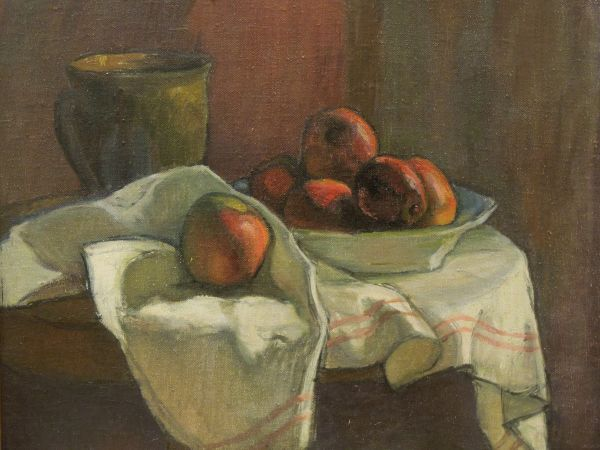 Martwa natura z jabłkami - Władysław Ślewiński