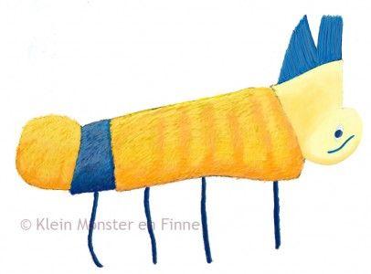 Hanenkam-Monster / Mohawk-Monster    Een samenwerking tussen een illustrator en een zesjarig jongetje. / A collaboration between an illustrator and a six year old boy.