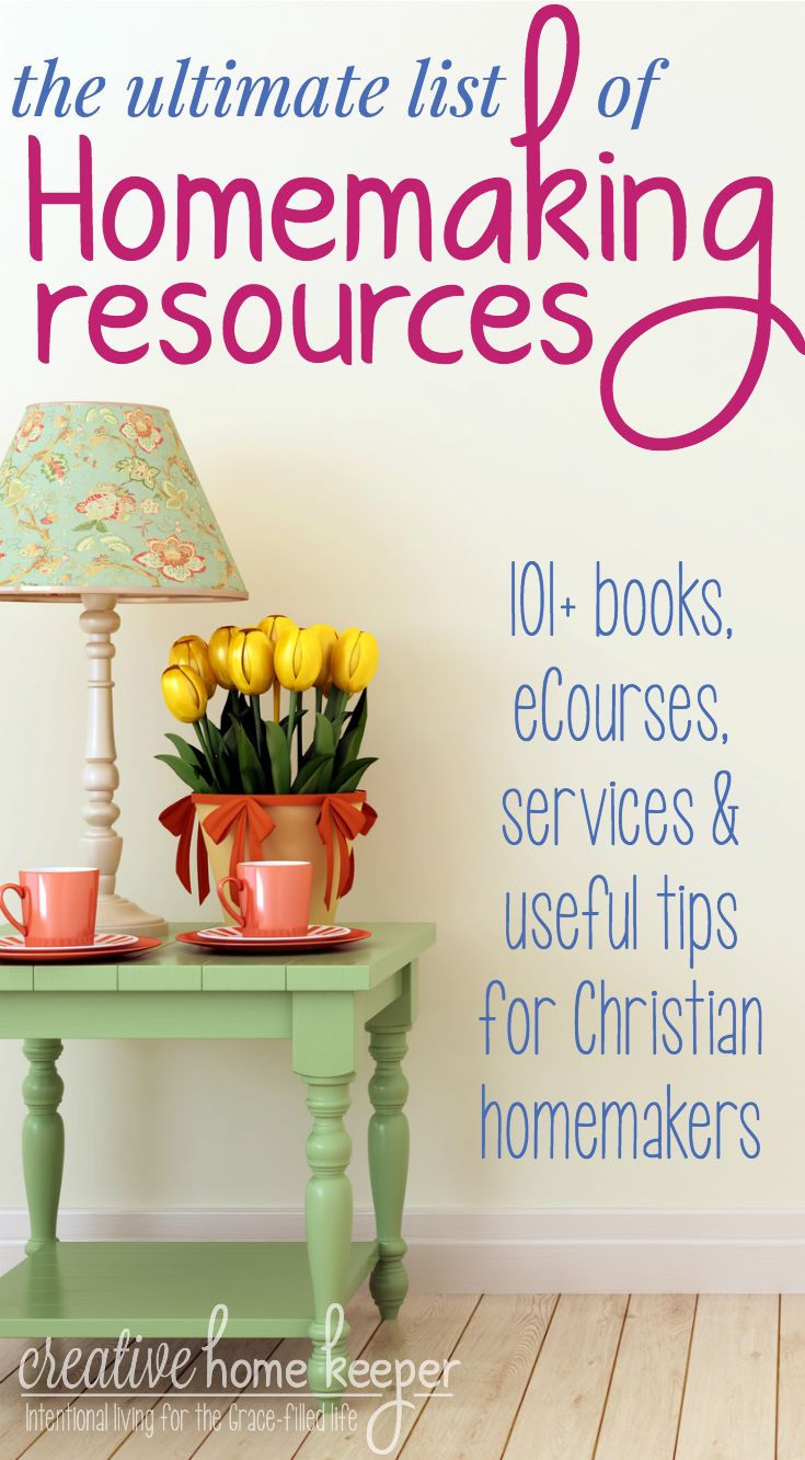 Our time as busy homemakers is limited, so this massive list of 101+ homemaking resources will provide useful tips, encouragement, and practical action steps you can put in place today to make your home more of a joyful and peaceful haven!