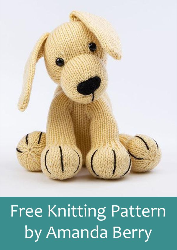 Free Knitting Pattern For Labrador By Amanda Berry Toy Puppy Dog