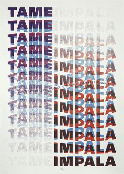 Tame Impala - Rainbow - 2014 ---- shirt
