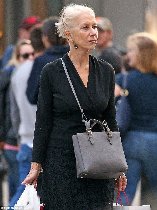 Lady in black; Helen Mirren looked stylish while running errands on Saturday in New York City