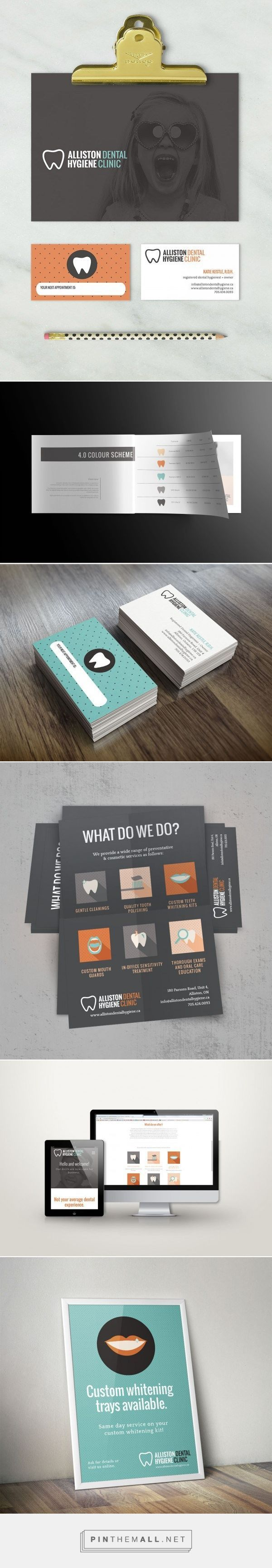 Alliston Dental Hygiene Clinic Brand Identity - Click the image for other brand inspiration and design services! Created via https://pinthemall.net