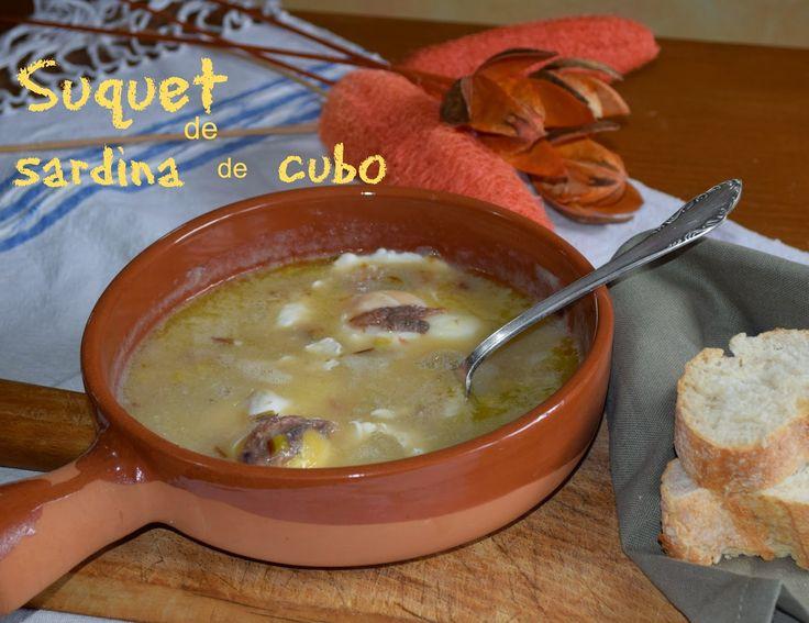 Cocinando en Mislares: SUQUET de SARDINAS de CUBO (arenques)