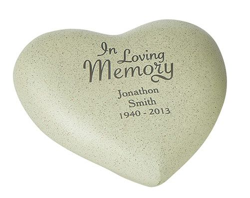 A loving, personal memorial for indoor or outdoor use. Made from natural resin. H16 x W18 x D 9cm.