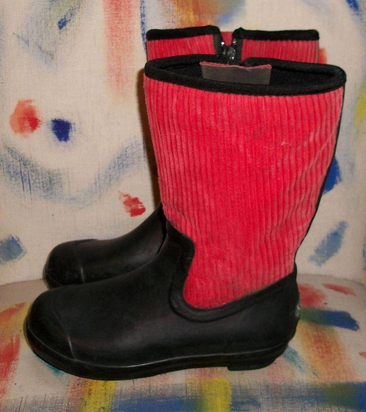 Original Muck Boot Company Southfork Red Corduroy Girls Youth Size 3  Xclnt Cond #TheOriginalMuckBootCompany #WeatherproofBoots #Outdoorfun