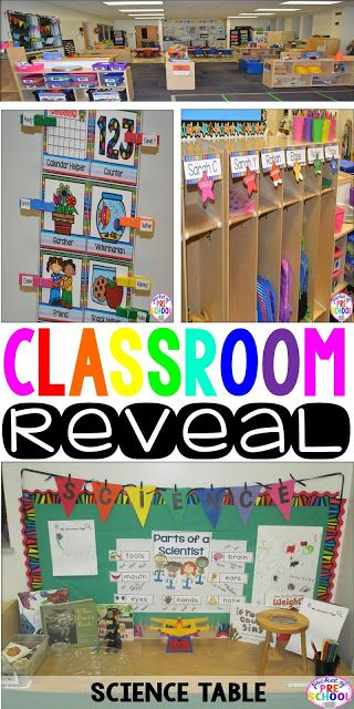 Classroom Management Decor ~ Classroom reveal a colorful preschool