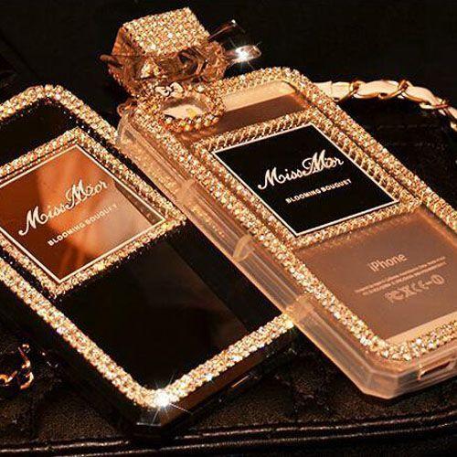 ディオール iPhone6S PLUS カバー 香水 キラキラ チェーン Dior iPhone6Sケース おしゃれ