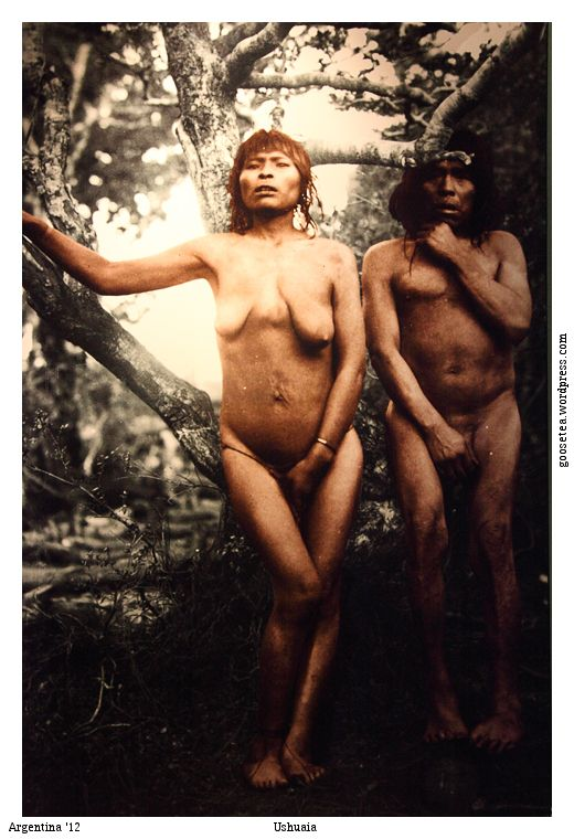 Pachaeoll and her husband in Orange Bay, Hoste Island. Пачаеоля и ейный супруг в Оранжевом заливе. The ancestors of the Yamana arrived 7000 years ago, it is not known where from. The forest was formed 6.500 years ago, and since then they used canoes to…