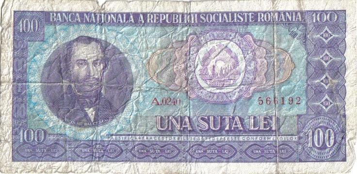 Bancnotă de 100 de lei (cea mai mare bancnotă din perioada comunistă) #epocadeaur