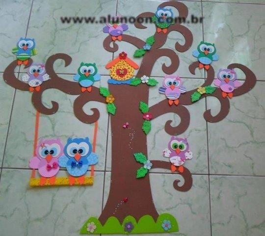 Decoração com Corujas - Educação Infantil - Aluno On