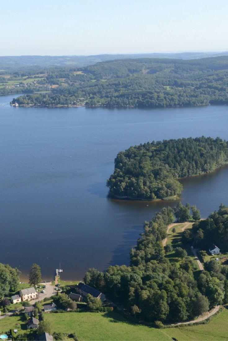 Le lac des Settons, Morvan, Bourgondië, Frankrijk