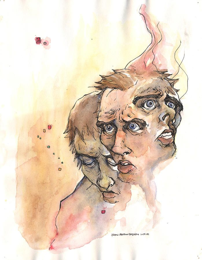 John Ashton Golden - Stress Anxiety Depression, 2001  Drawings: Pencil, Ink, Watercolors on Paper