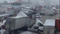 Treacherous Driving Conditions from Kansas to North Carolina
