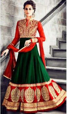 Chrome #Green Color #Georgette #Long Anarkali Salwar #Stitched Suits with #Dupatatta #anarkali , #salwar , #kameez , #dresses , #suits , #designer , #colors , #pinterest , #Shopping , #fashion , #boutique , #online , #heenastyle , #indian , #style , @heenastyle , #churidar , #likes , #abaya , #pakistani, #clothing , #womens , #mens , #kids , #boys , #girls