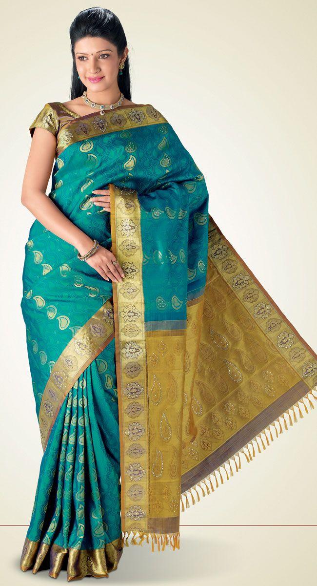 Ankusha Kanchipuram Saree http://www.harinisilks.com/ankusha-kanchipuram-saree.html