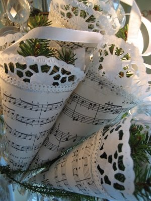 Music notes wrapping paper for the music lover