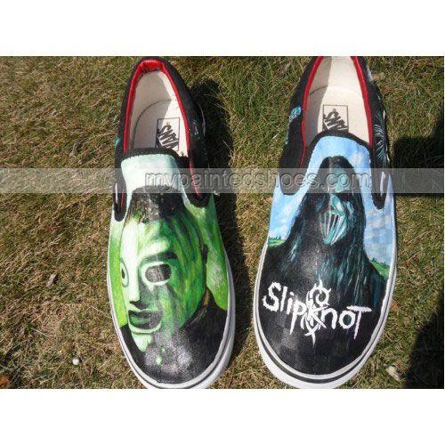 Metal Gods Slipknot Custom Vans | HandPaintedShoes - Clothing on ...
