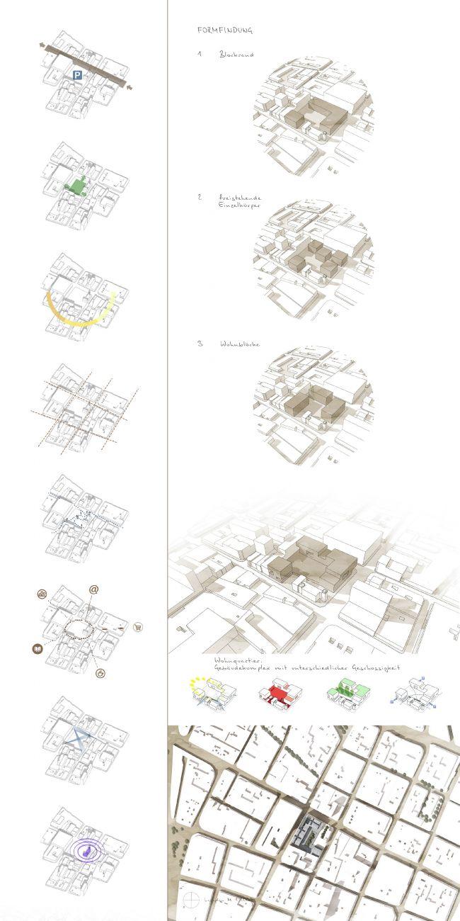 Стратегия и формообразование. Проект «Совместный Дом. Экспериментальное социальное жилье в г. Медельин, Колумбия». © Автор: Иван Ильяков