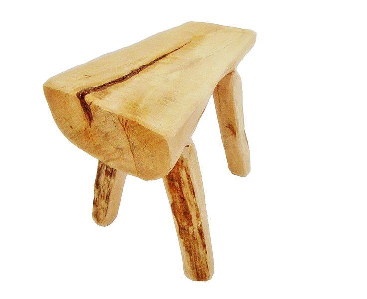stołek drewniany, ława - SkandiDekor - Krzesła, wooden stool, tree stump