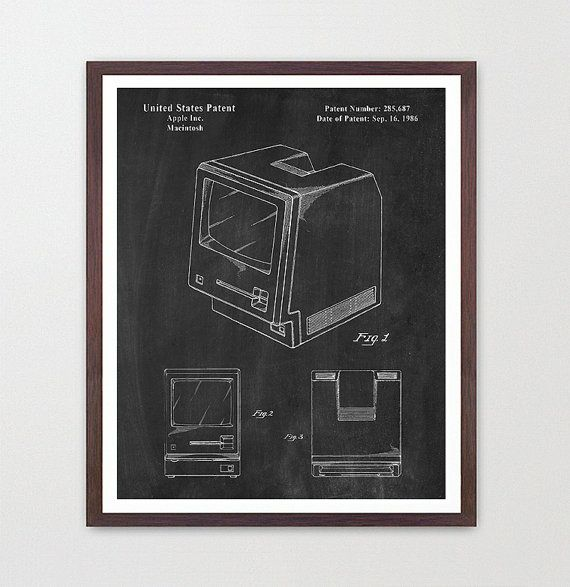 Apple Computer Patent - First Computer - Apple Inc - Computer Art - Geek Poster by WunderKammerEditions