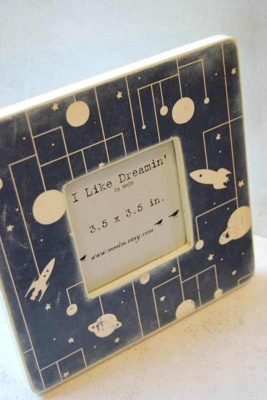 Outer Space Picture Frame by Mmim on Etsy