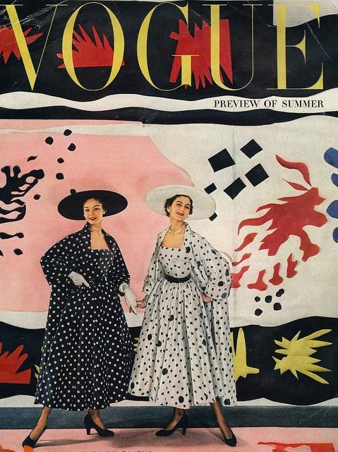 Cecil Beaton, Vogue, April 1949. Models: Jean Patchett (L) and Carmen Dell'Orefice.