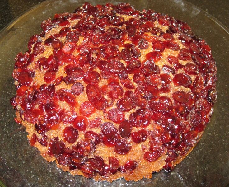 Cranberry Upside-Down Cake from Cranberry Valentine! This is a gluten free (smaller) version.
