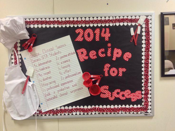 Bulletin Board-Recipe for Success