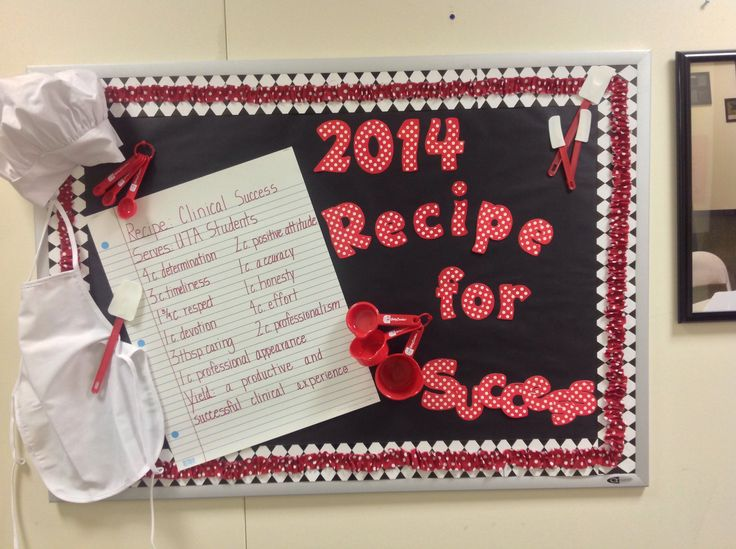 Bulletin Board-Recipe for Success