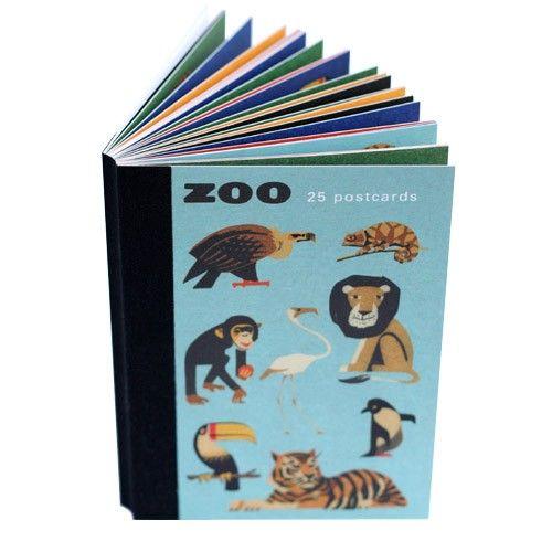 Zoo Postcard Book