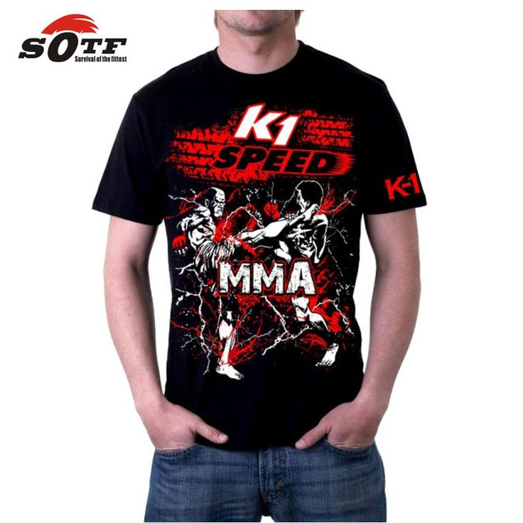 [Visit to Buy] SOTF MMA loose breathable cotton summer men's sports boxing sweatshirt mma shorts top king muay thai shorts cheap pretorian #Advertisement