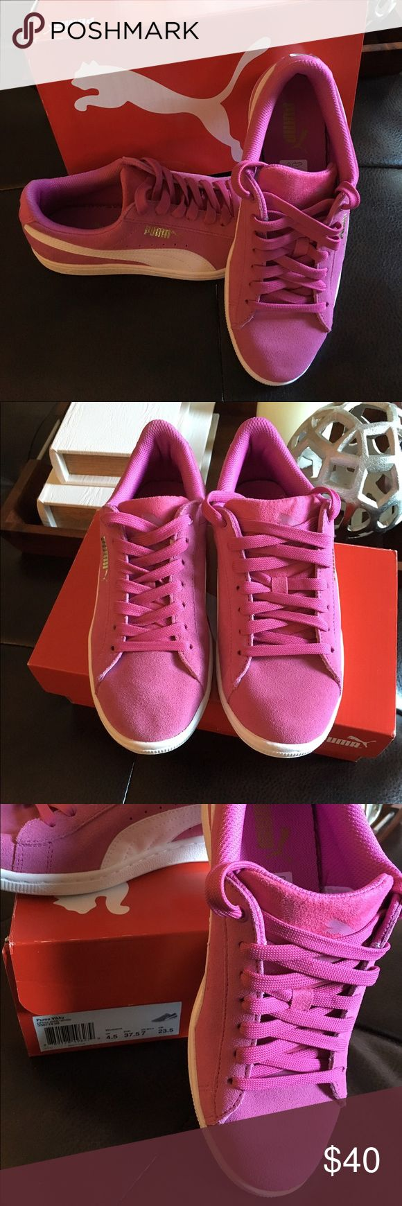 Pink Women's Puma Classic Vikky  Classic women's Puma Vikky in color phlox pink - white.. Brand new in BOX!! Puma Shoes Sneakers