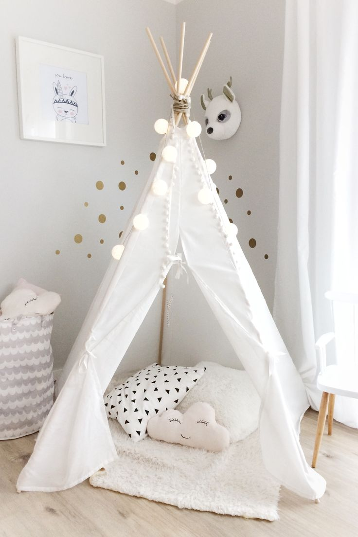 DIY: Ikea Hack Tipi Zelt für süßes Pastell Mädchen Kinderzimmer- einfach und…