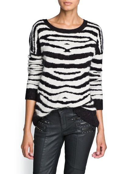 Camisola zebra lã e angora | Mango (39.99€)