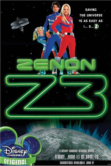 "Zenon: Z3 (2004) TV G -  The heroine sets out to win an important competition - but her dreams of success are jeopardized.  -    Director: Steve Rash  -   Writers: Marilyn Sadler (character from the book ""Zenon: Girl of the Twenty First Century""), Roger Bollen (character from the book ""Zenon: Girl of the Twenty First Century"")  -    Stars: Kirsten Storms, Lauren Maltby, Alyson Morgan  -  ACTION / COMEDY / FAMILY"