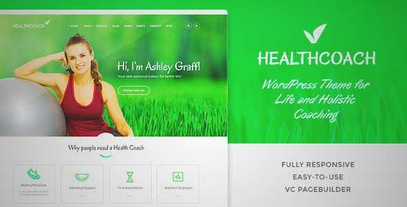 Download and review of Health Coach - Life Coach WordPress theme, one of the best Themeforest Retail themes