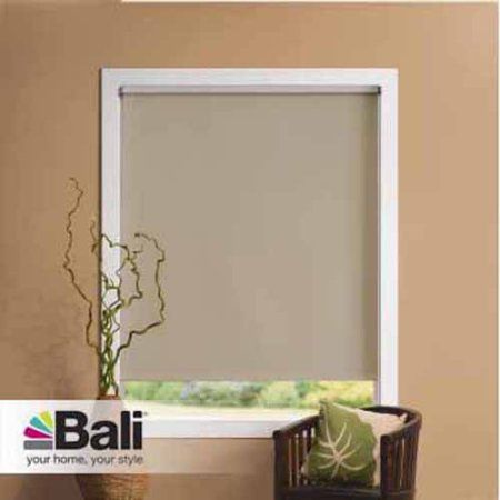 Bali Room Darkening Decorative Roller Shade, 37-1/4 inch x 72 inch, Beige