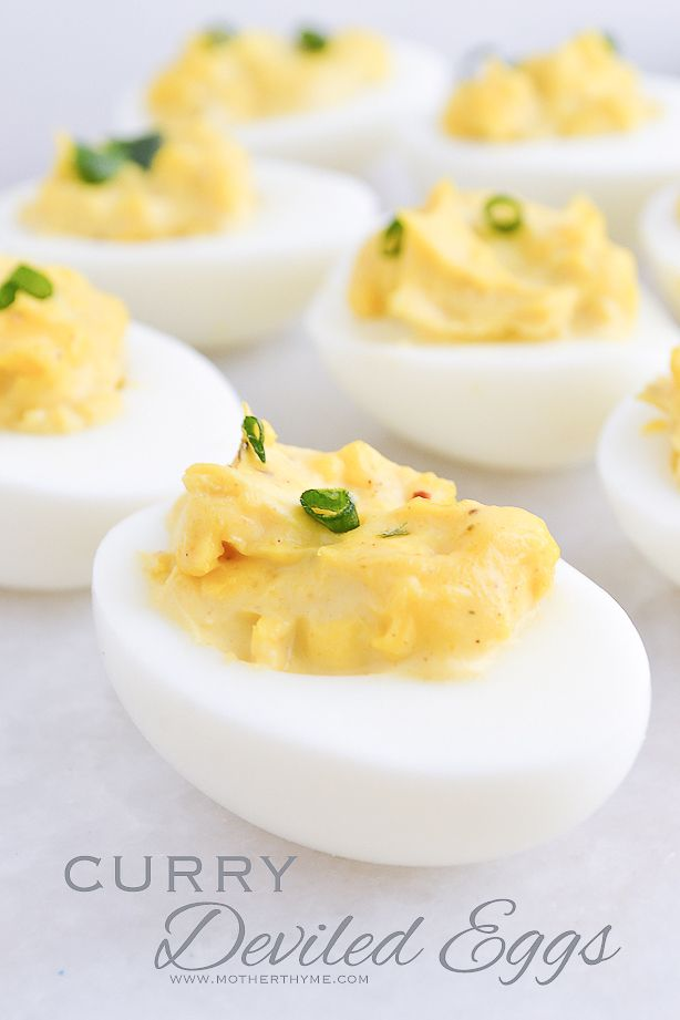 Curry Deviled Eggs | from @Jenn L | Mother Thyme