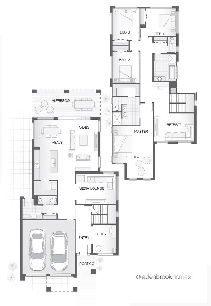 Double Storey Home Design   The PERIN by Adenbrook Homes