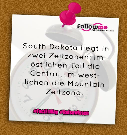 #Southdakota #USA #Zeitzonen #Reisewissen #Funfacts #FactFriday #Reisen #Travel #Wissen #Facts
