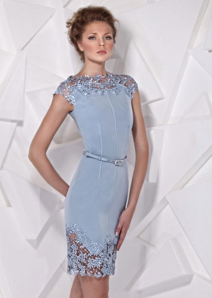 Ice Blue Cocktail Dress - Ocodea.com