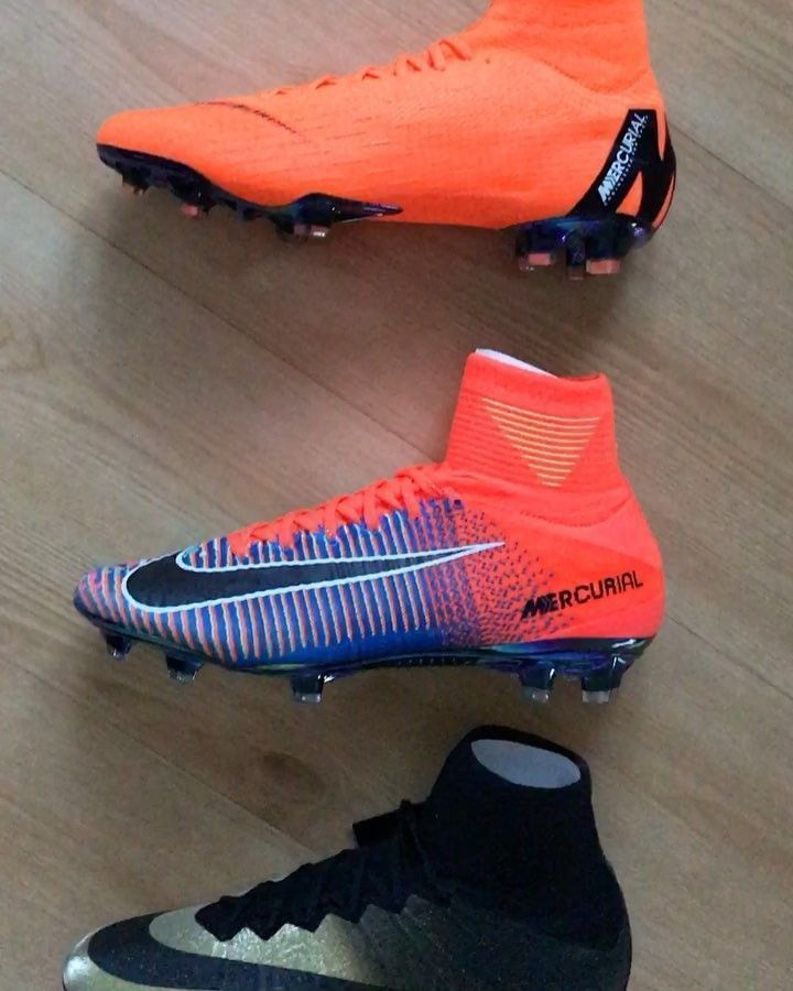 The evolution of Nike Mercurial Superfly! Which one does look best?? #nike #mercurial #superfly #football #soccer #futbol #fifa #boots #neymar #cleats #cr7 #cristiano #ronaldo #futbolronaldo #futbolneymar